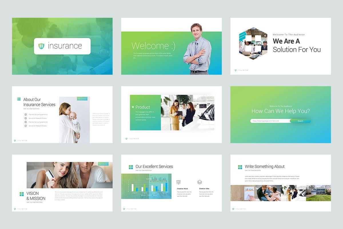 Insurance Google Slide Templates, Slide 2, 08434, Business Models — PoweredTemplate.com