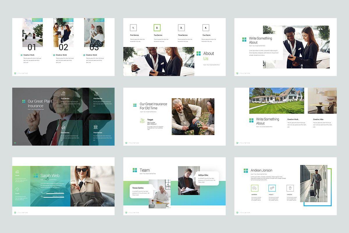 Insurance Google Slide Templates, Slide 3, 08434, Business Models — PoweredTemplate.com