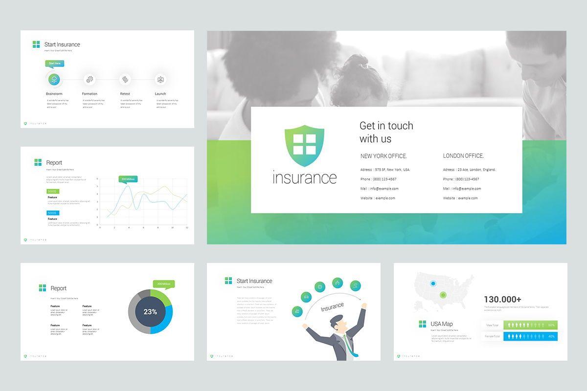 Insurance Google Slide Templates, Slide 5, 08434, Business Models — PoweredTemplate.com