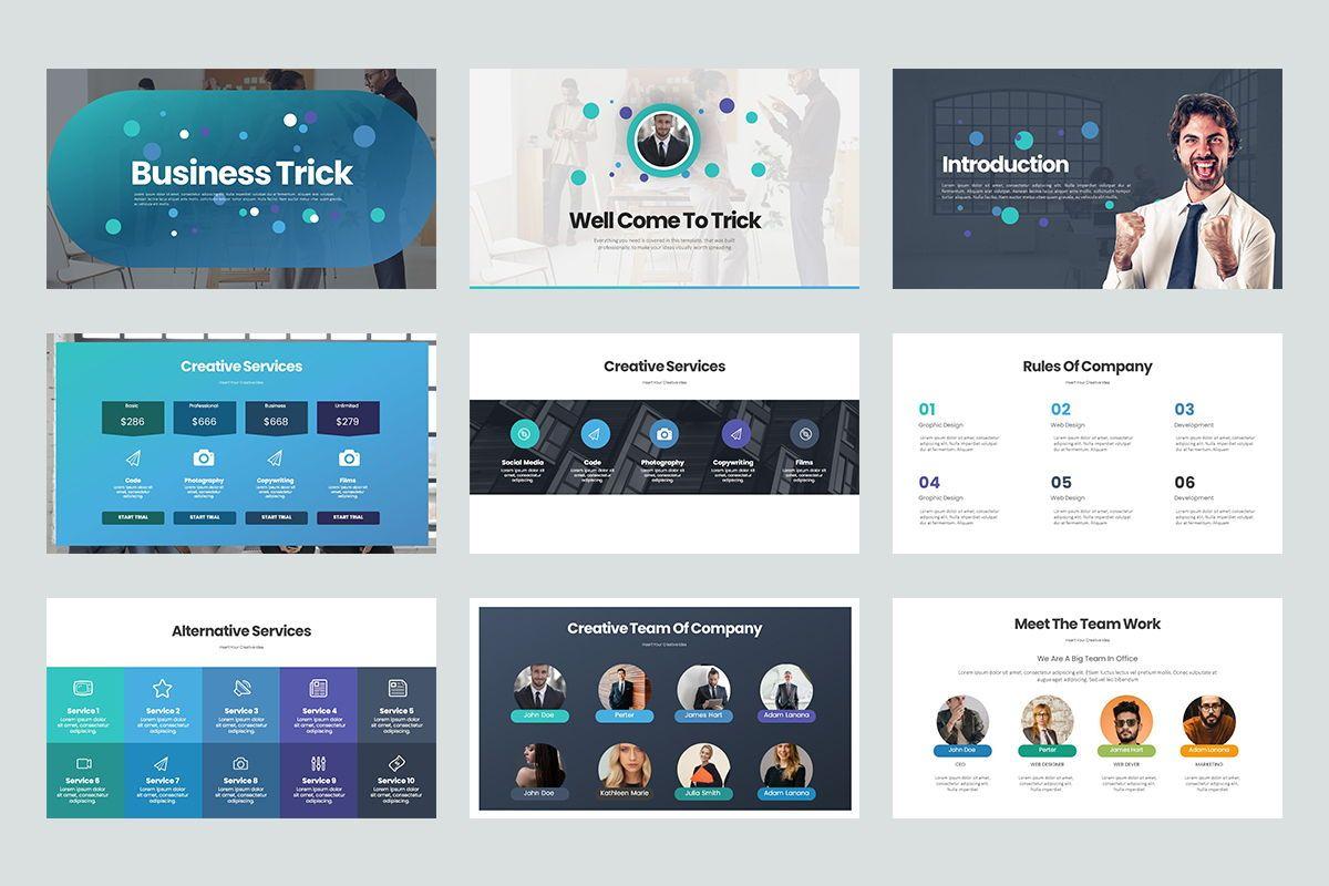 Business Trick Google Slide Templates, Slide 2, 08437, Business Models — PoweredTemplate.com