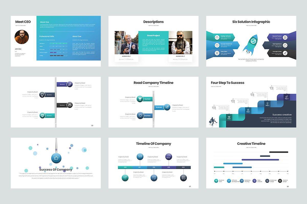 Business Trick Google Slide Templates, Slide 3, 08437, Business Models — PoweredTemplate.com