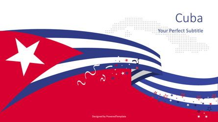 Presentation Templates: National Flag of Cuba #08439