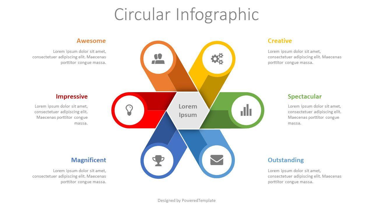 Circular Infographic, 08441, Infographics — PoweredTemplate.com