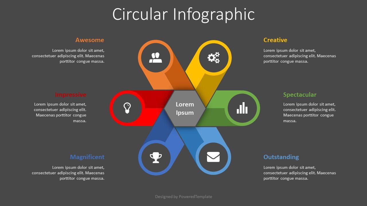 Circular Infographic, Slide 2, 08441, Infographics — PoweredTemplate.com