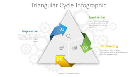 Process Diagrams: Triangular Cycle Infographic #08442