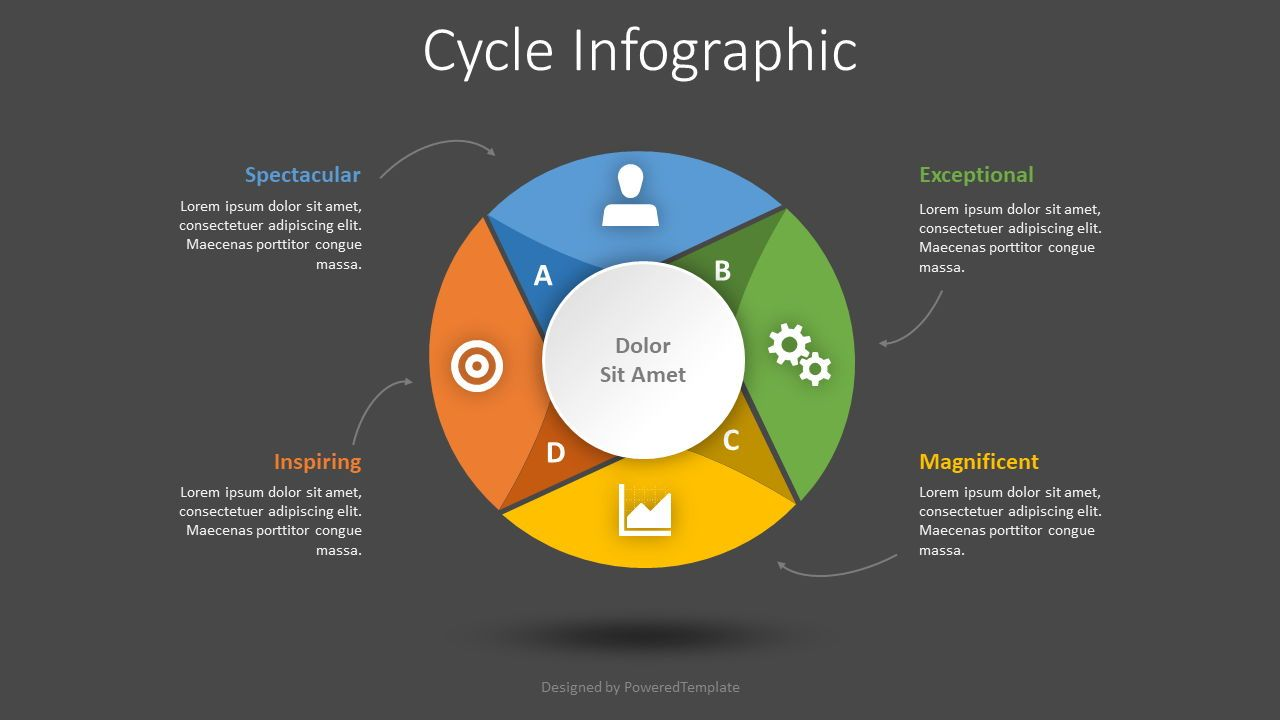 Cycle Diagram Infographic, Slide 2, 08443, Process Diagrams — PoweredTemplate.com