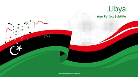 Presentation Templates: Festive Flag of Libya #08446