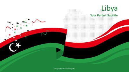 Presentation Templates: Festive Flag of Libya #08446
