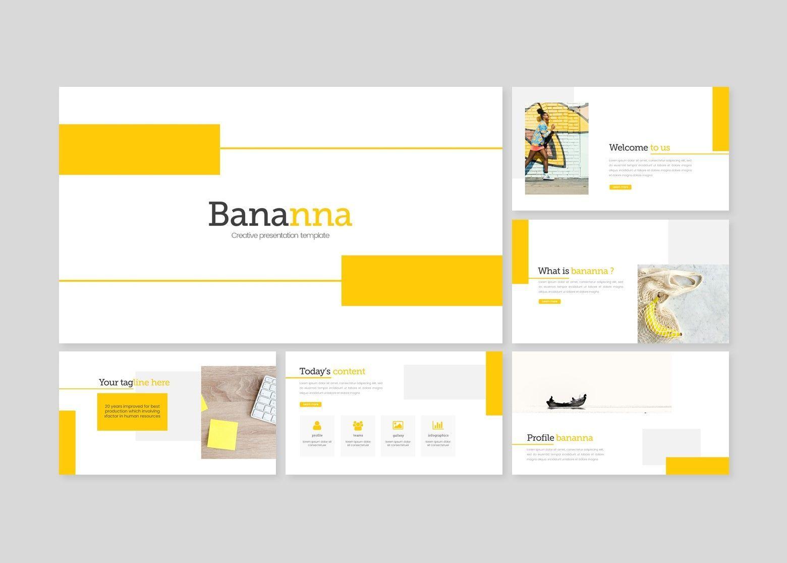 Bananna – Creative Google Slide Business Template, Slide 2, 08448, Business Models — PoweredTemplate.com