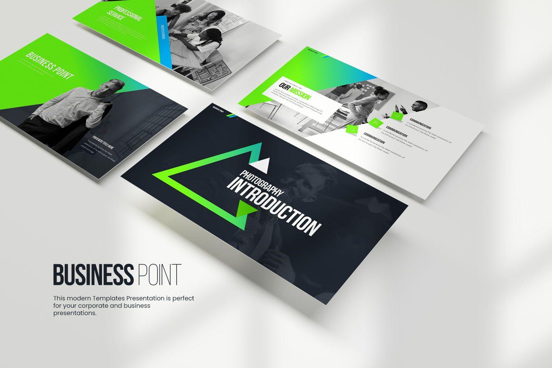 Business Point Keynote Templates, 08449, Business Models — PoweredTemplate.com