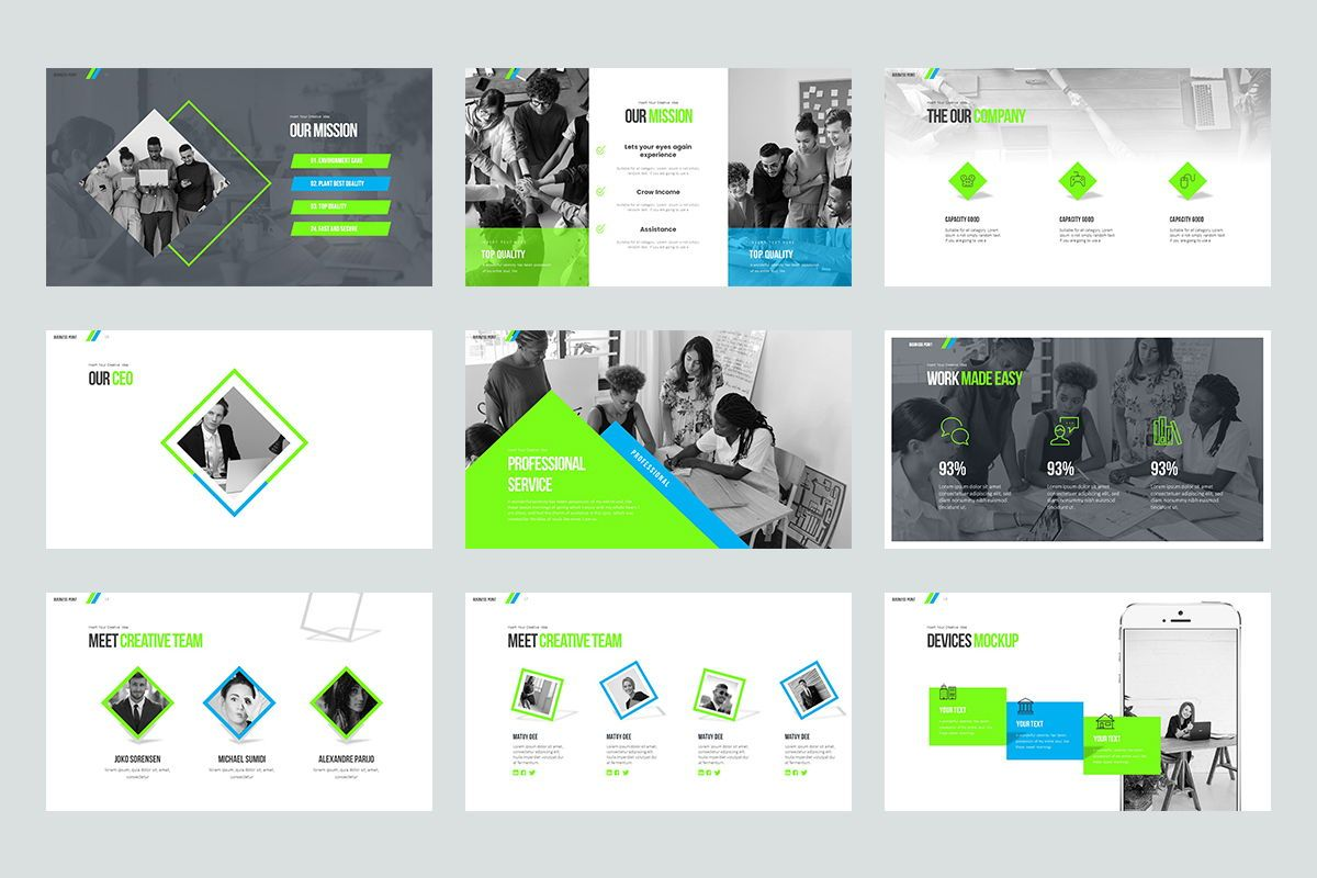 Business Point Keynote Templates, Slide 3, 08449, Business Models — PoweredTemplate.com