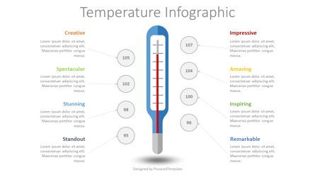 Medical Diagrams and Charts: Human Body Temperature Infographic #08450