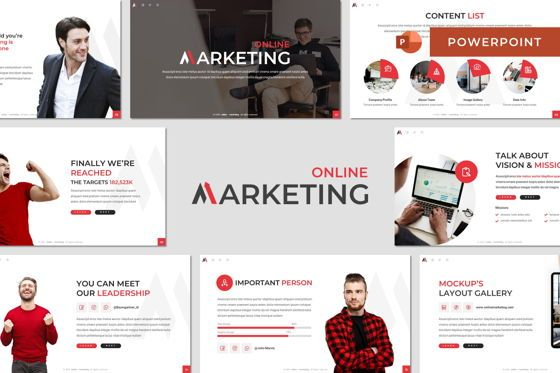 Business Models: Marketing - Powerpoint Template #08453