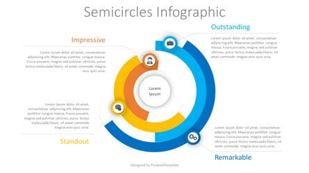 Infographics: Semicircles Infographic #08454