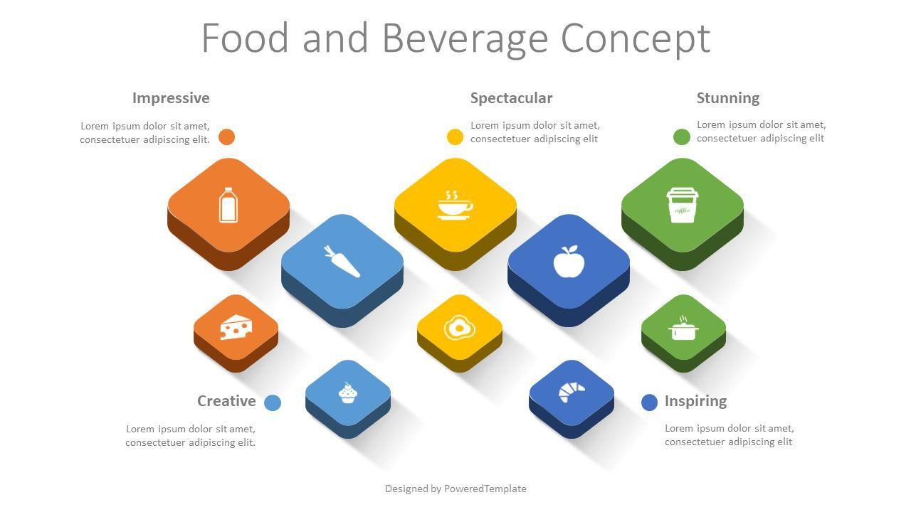 Food and Beverage Concept, 08465, Infographics — PoweredTemplate.com