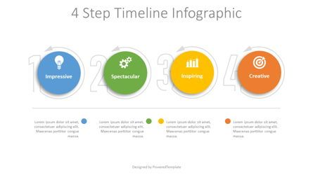 Process Diagrams: 4 Step Timeline Infographic #08469