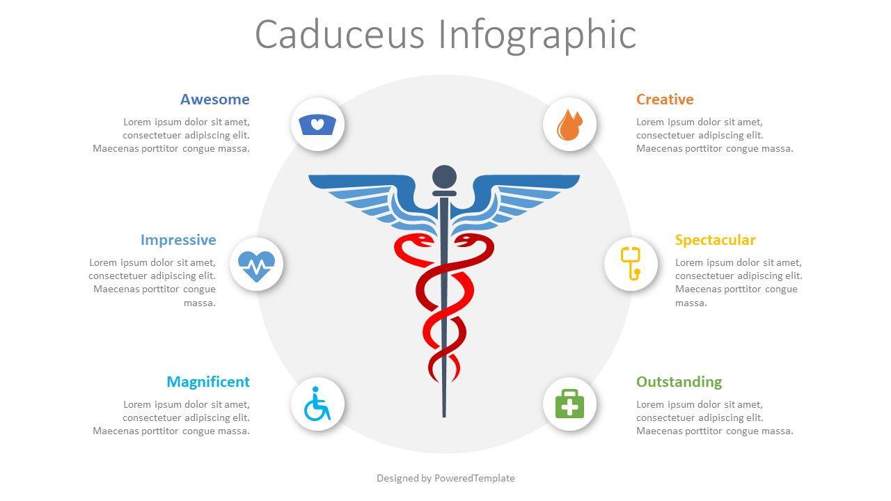 Caduceus Infographic, 08477, Medical Diagrams and Charts — PoweredTemplate.com