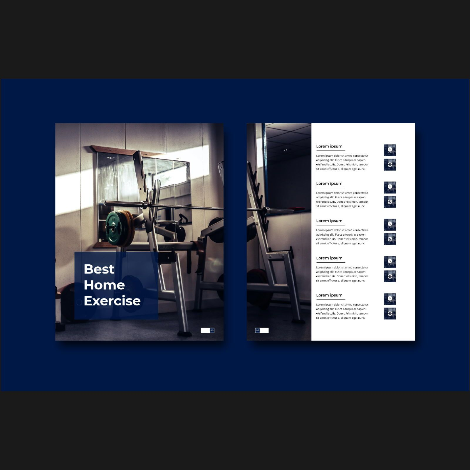 Stay healthy at home fitness ebook template, Slide 3, 08480, Infographics — PoweredTemplate.com