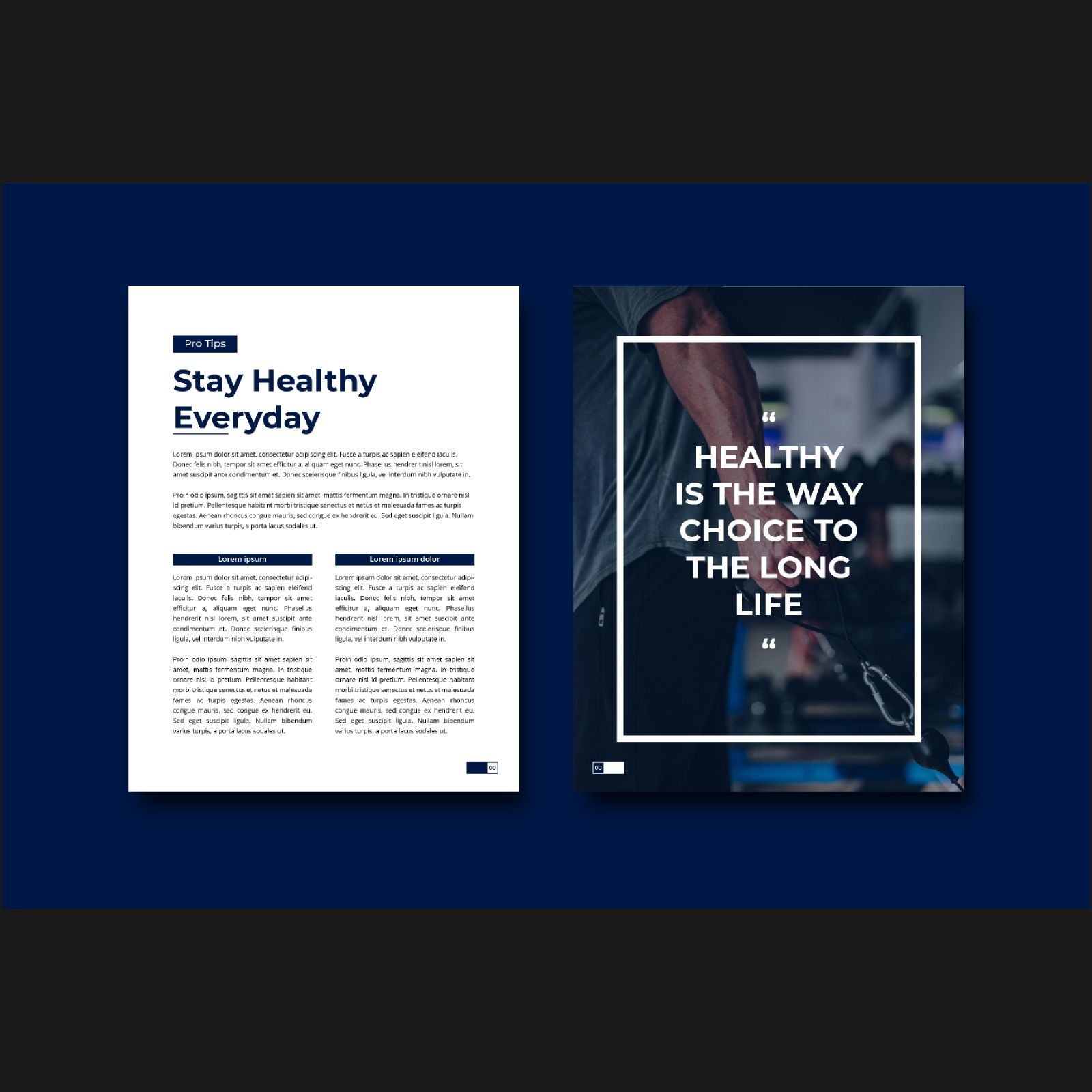 Stay healthy at home fitness ebook template, Slide 5, 08480, Infographics — PoweredTemplate.com