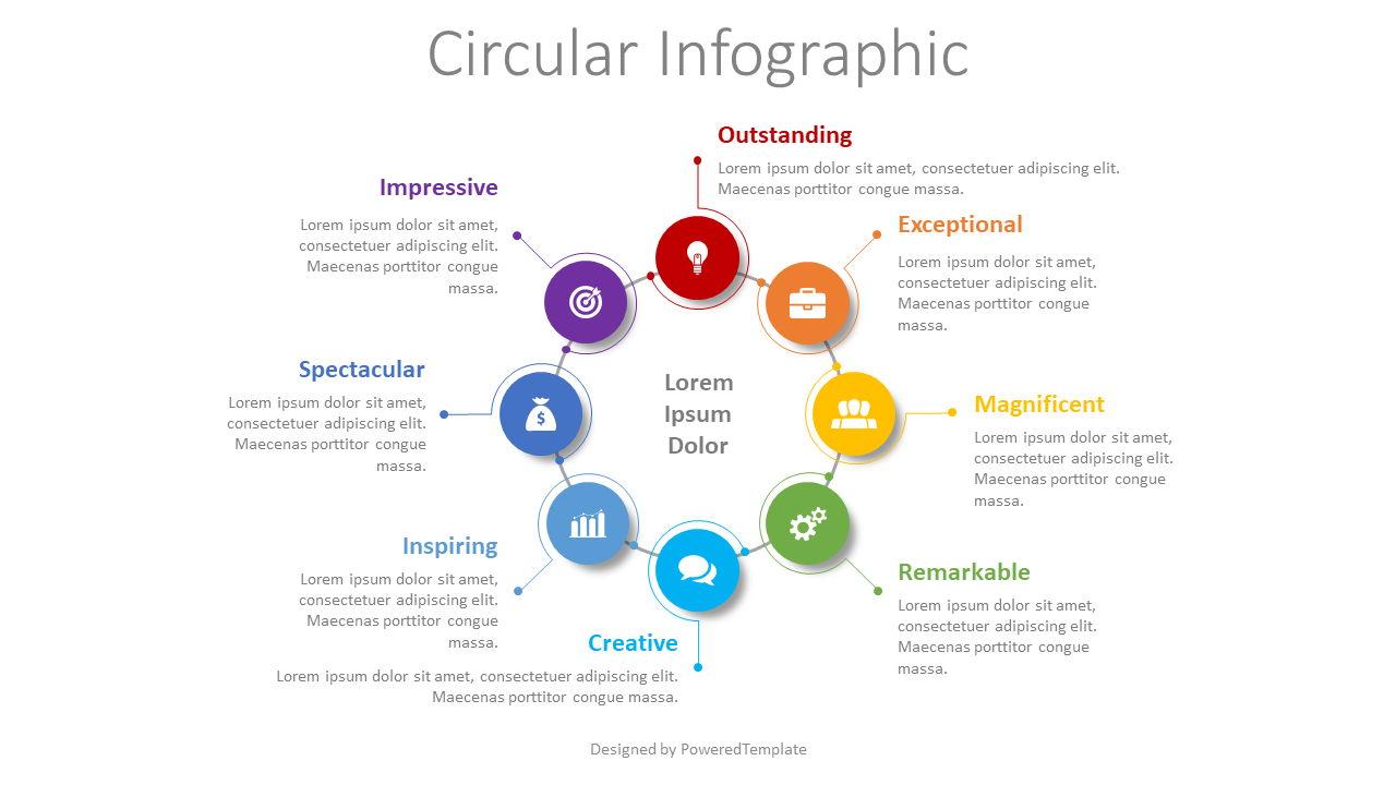 8 Step Business Process, 08481, Infographics — PoweredTemplate.com