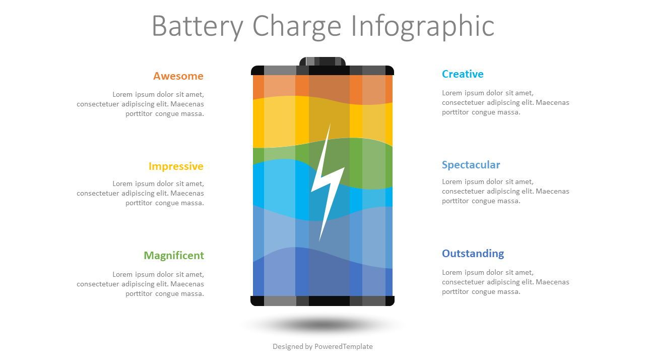Battery Charge Infographic, Slide 2, 08483, Infographics — PoweredTemplate.com