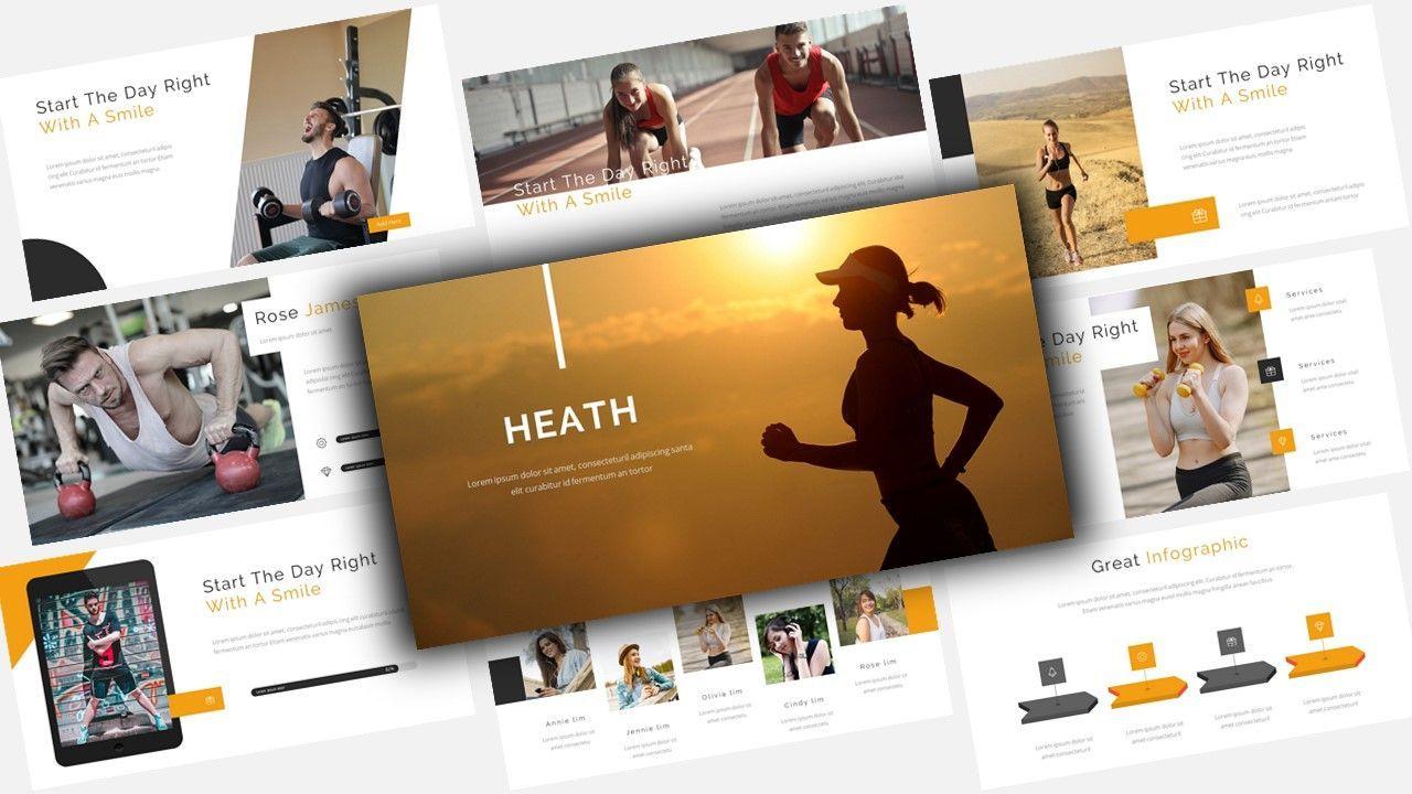 Heath – for you Google Slide Business Template, 08486, Business Models — PoweredTemplate.com