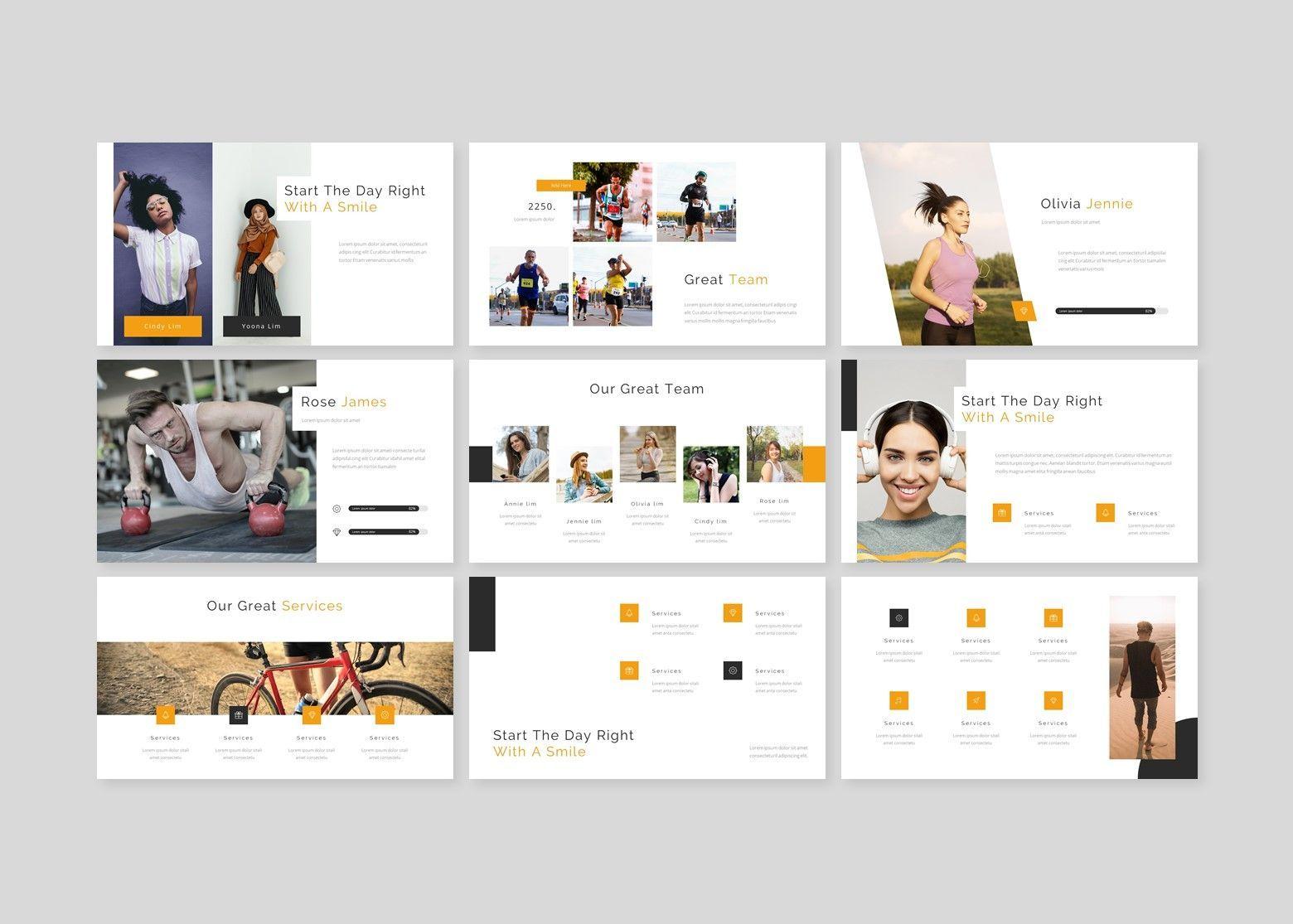 Heath – for you Google Slide Business Template, Slide 3, 08486, Business Models — PoweredTemplate.com