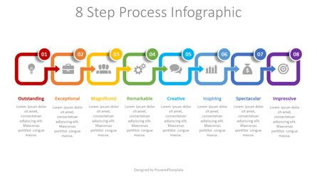 Process Diagrams: 8 Step Process Infographic #08493