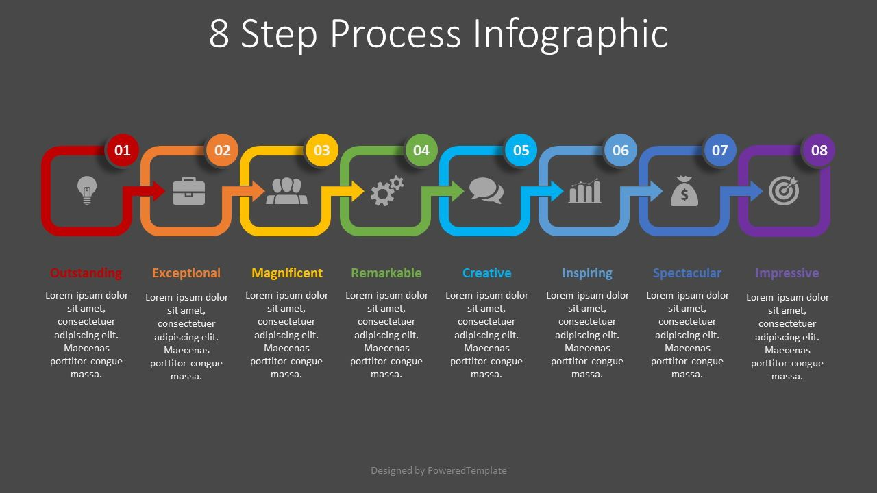 8 Step Process Infographic, Slide 2, 08493, Process Diagrams — PoweredTemplate.com