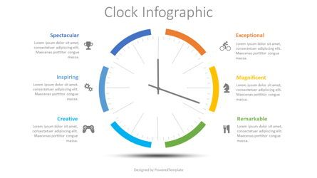 Stage Diagrams: Clock Face Infographic #08496