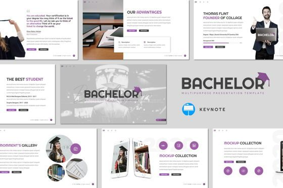 Presentation Templates: Bachelor - Keynote Template #08498