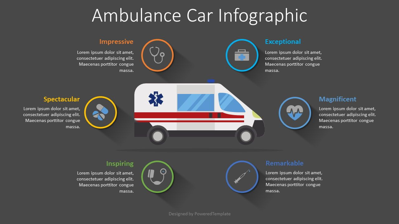 Ambulance Car Infographic, Slide 2, 08502, Medical Diagrams and Charts — PoweredTemplate.com