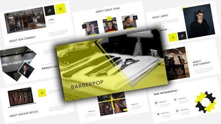 Business Models: Barberpop – Creative Business PowerPoint Template #08507