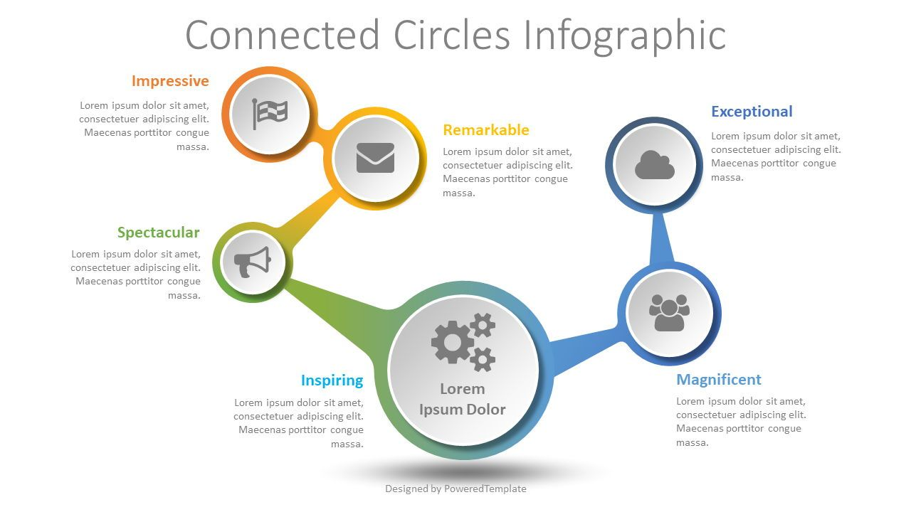 Connected Circles Infographic, 08514, Infographics — PoweredTemplate.com