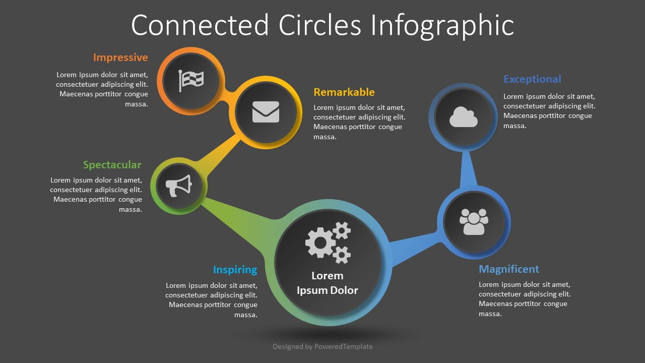 Connected Circles Infographic, Slide 2, 08514, Infographics — PoweredTemplate.com