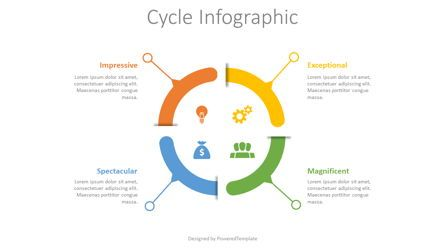Infographics: 4 Step Cycle Infographic #08520