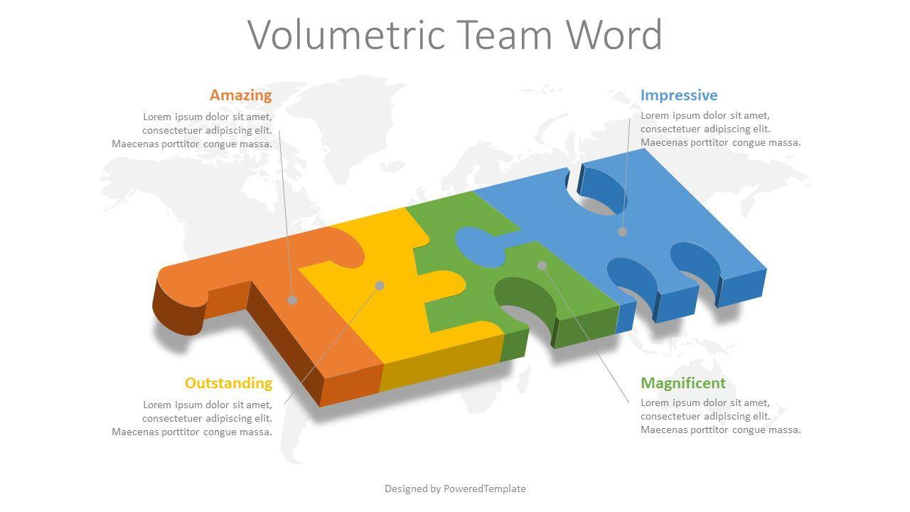 Team Word Puzzle Pieces, 08522, Infographics — PoweredTemplate.com