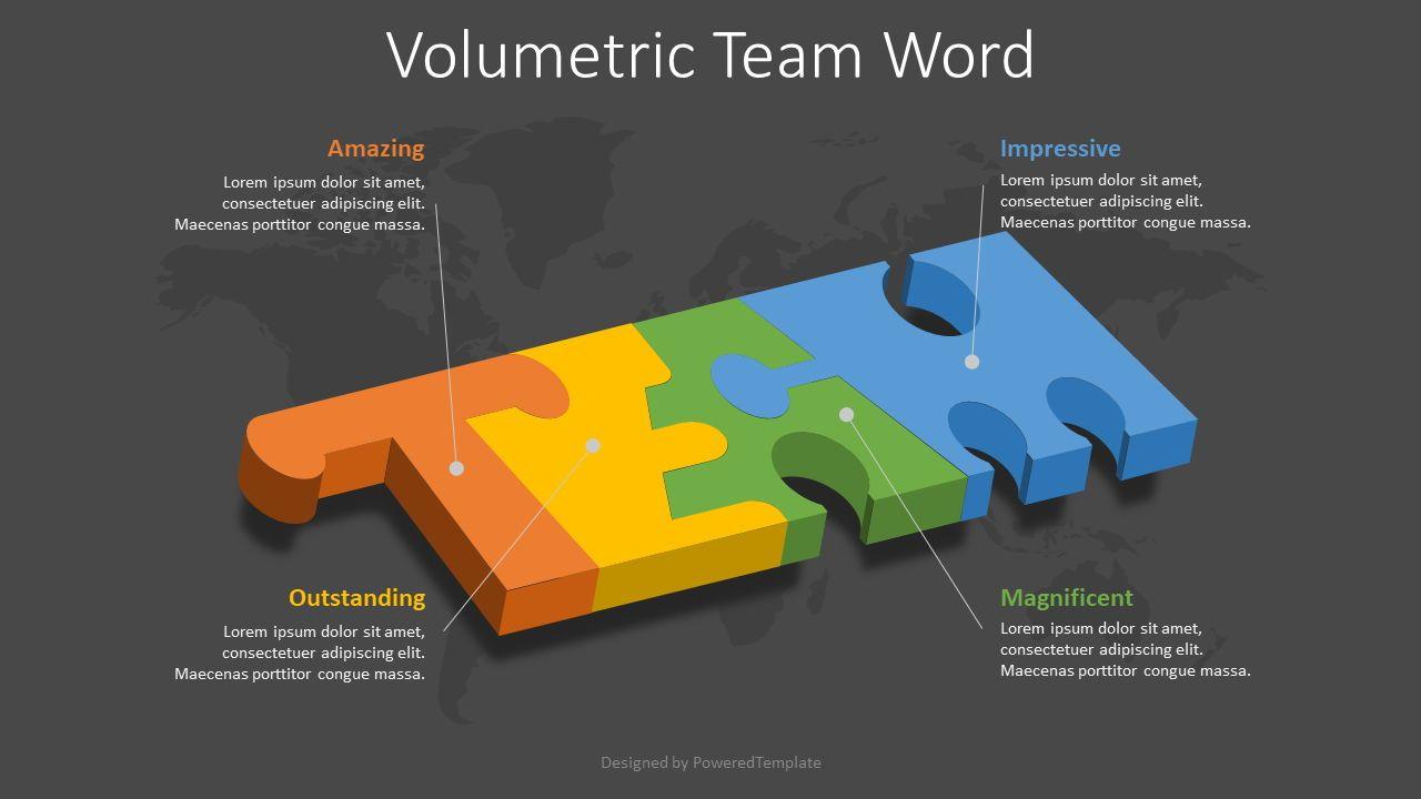 Team Word Puzzle Pieces, Slide 2, 08522, Infographics — PoweredTemplate.com