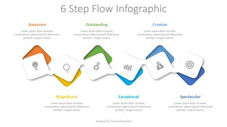 Process Diagrams: 6 Step Flow Infographic #08526