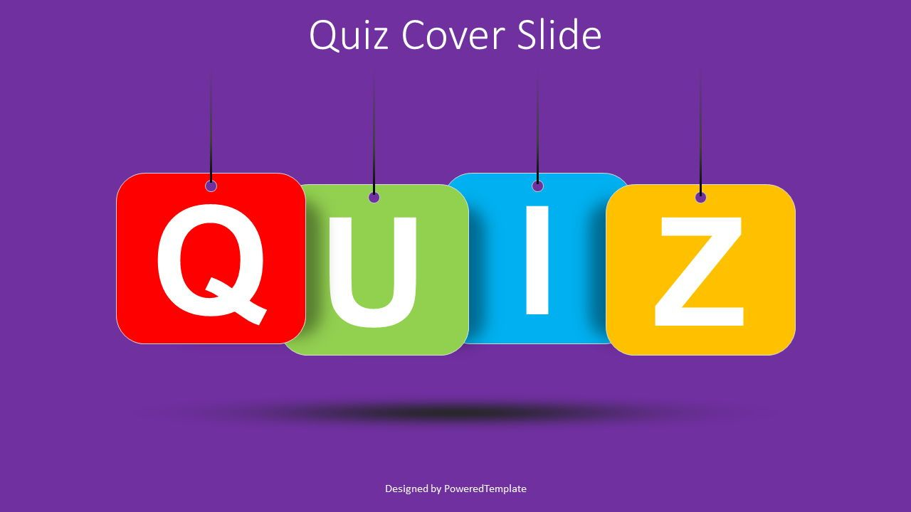 Quiz Word Cover Slide, 08529, Education Charts and Diagrams — PoweredTemplate.com