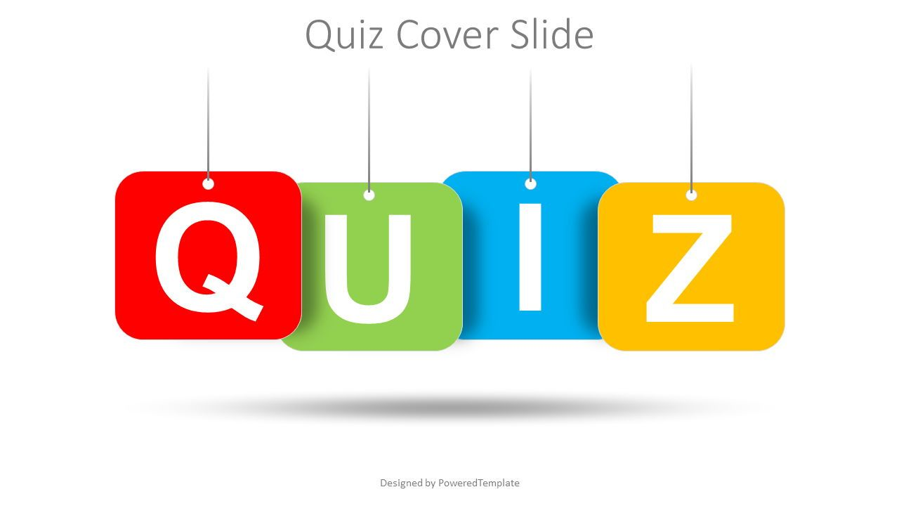 Quiz Word Cover Slide, Slide 2, 08529, Education Charts and Diagrams — PoweredTemplate.com