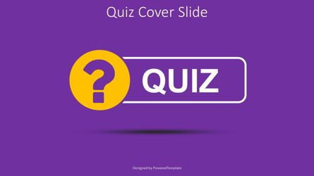 Education Charts and Diagrams: Quiz Word with Question Mark Cover Slide #08532