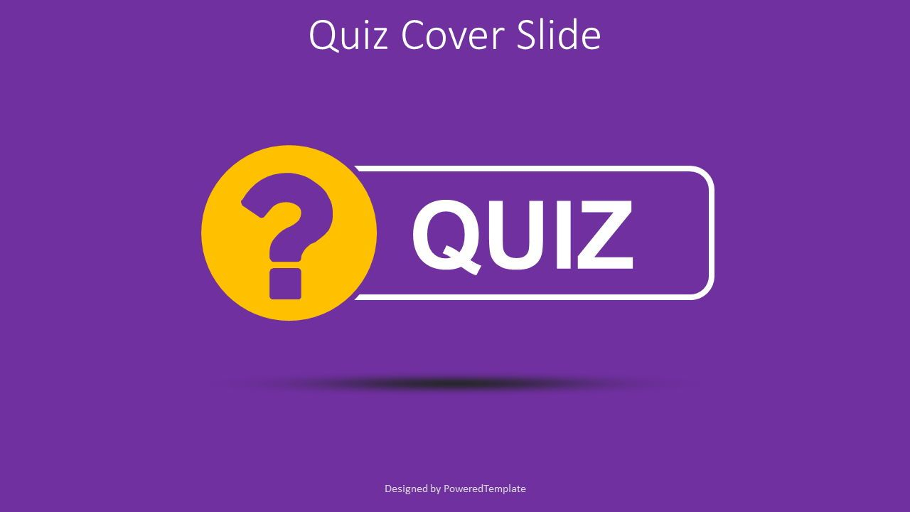 Quiz Word with Question Mark Cover Slide, 08532, Education Charts and Diagrams — PoweredTemplate.com