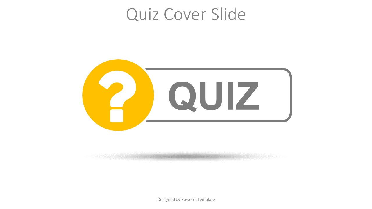 Quiz Word with Question Mark Cover Slide, Slide 2, 08532, Education Charts and Diagrams — PoweredTemplate.com