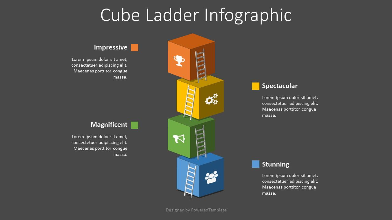 Cube Ladder Infographic, Slide 2, 08536, Infographics — PoweredTemplate.com