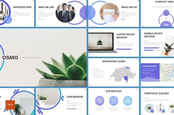 Presentation Templates: Osmo - PowerPoint Template #08537