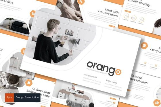 Presentation Templates: Orango - PowerPoint Template #08538