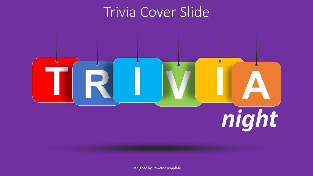 Trivia Night Cover Slide, 08540, Education Charts and Diagrams — PoweredTemplate.com