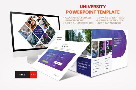 Presentation Templates: University - Education College Power Point Template #08541