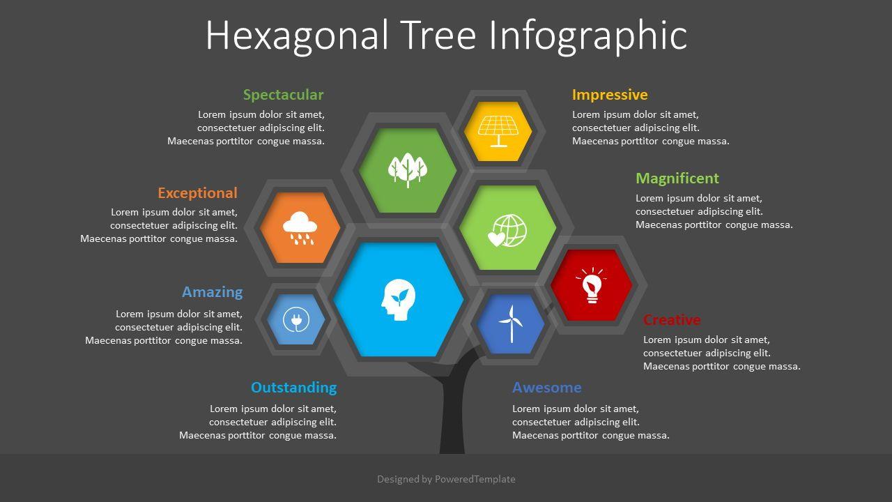 Hexagonal Tree Infographic, Slide 2, 08543, Infographics — PoweredTemplate.com
